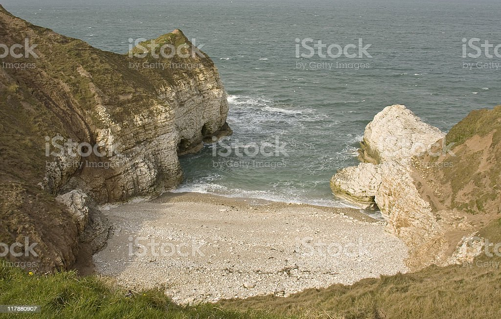 Thornwick Bay stock photo