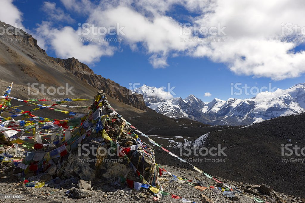 Thorongla. Annapurna & Everest Circuit. Nepal motives stock photo