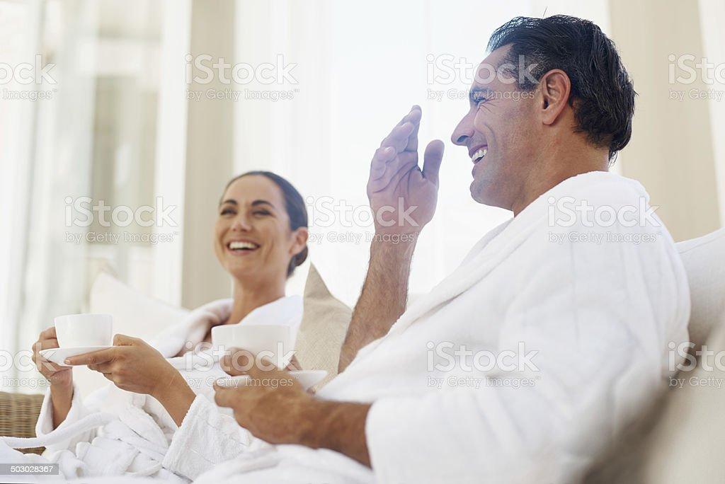 Thorough enjoyment on our spa day stock photo
