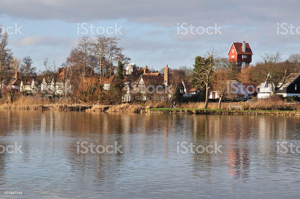 Thorpeness village. stock photo
