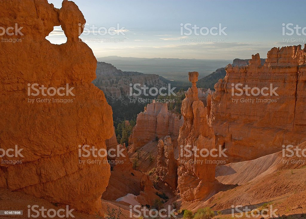 Thors Hammer Bryce Canyon stock photo