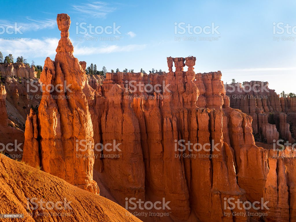 Thor's Hammer - Most Famous Hoodoo in the Bryce Canyon stock photo