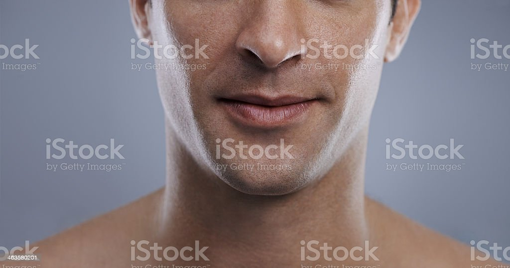 Those are lips any girl would want to kiss! stock photo