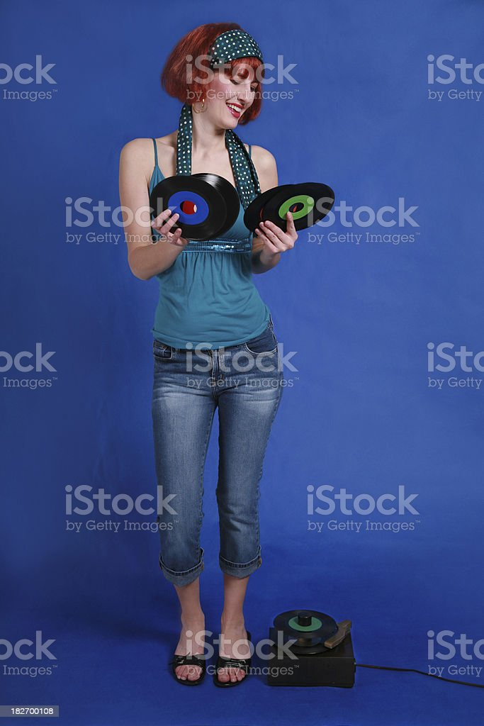 Those Old Records royalty-free stock photo