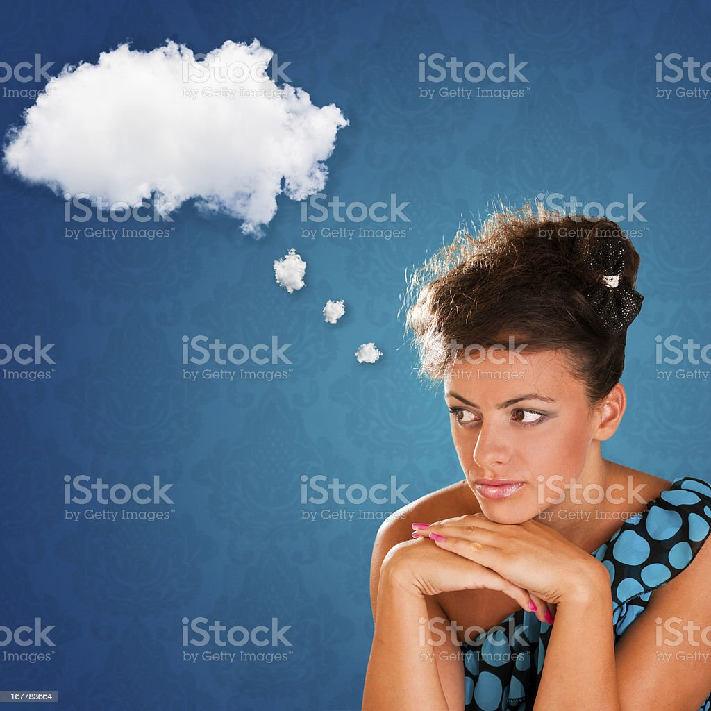 Thought bubble cloud royalty-free stock photo