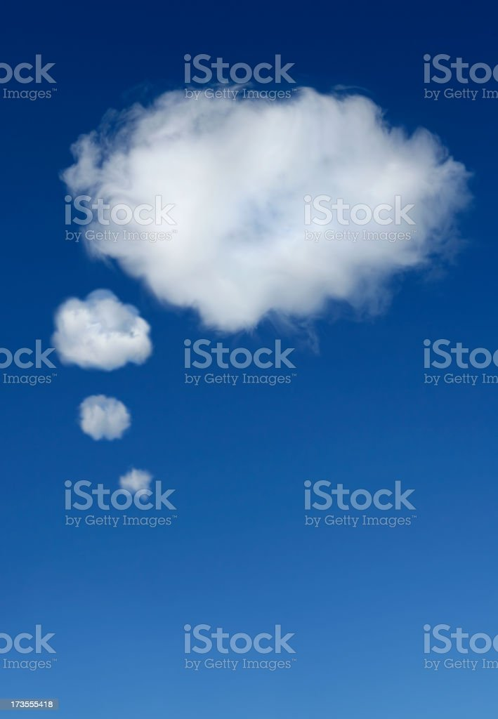 Thought bubble cloud stock photo