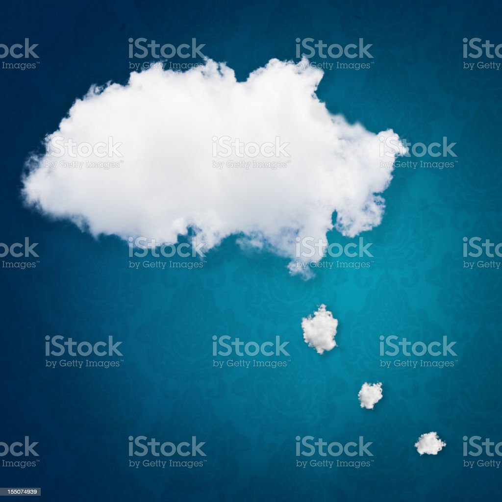Thought bubble clouds stock photo