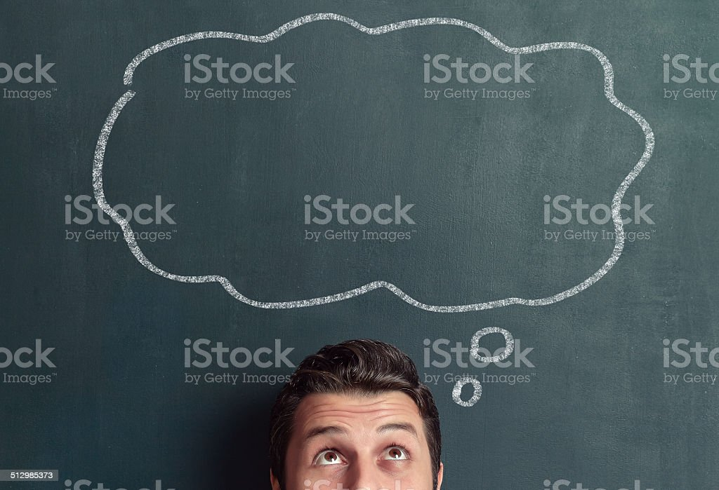 Thought bubble stock photo