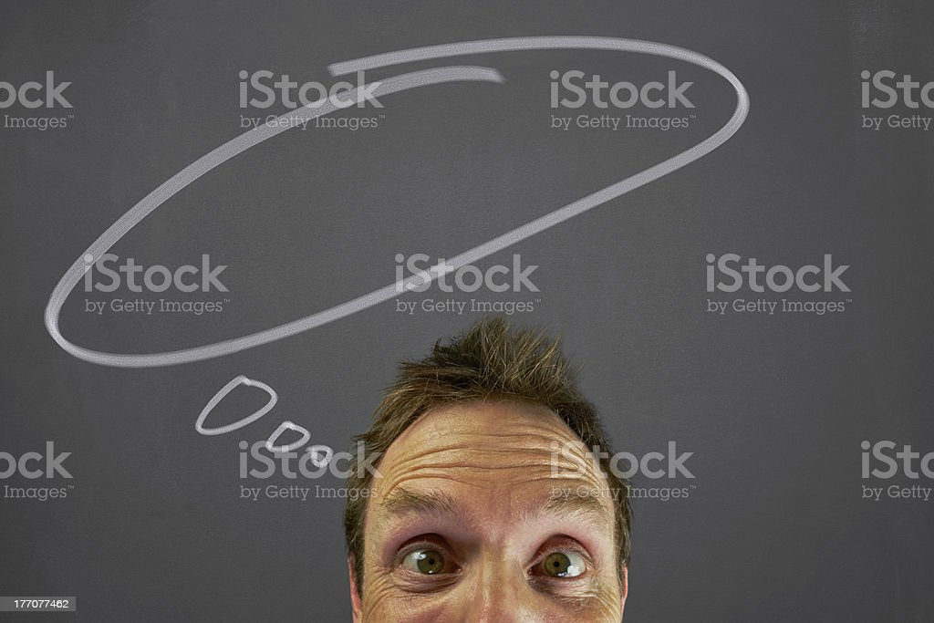 Thought bubbles royalty-free stock photo