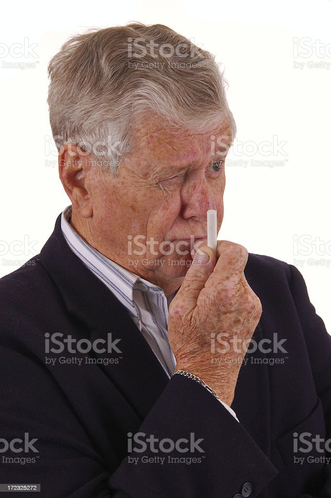 Thought provoking royalty-free stock photo