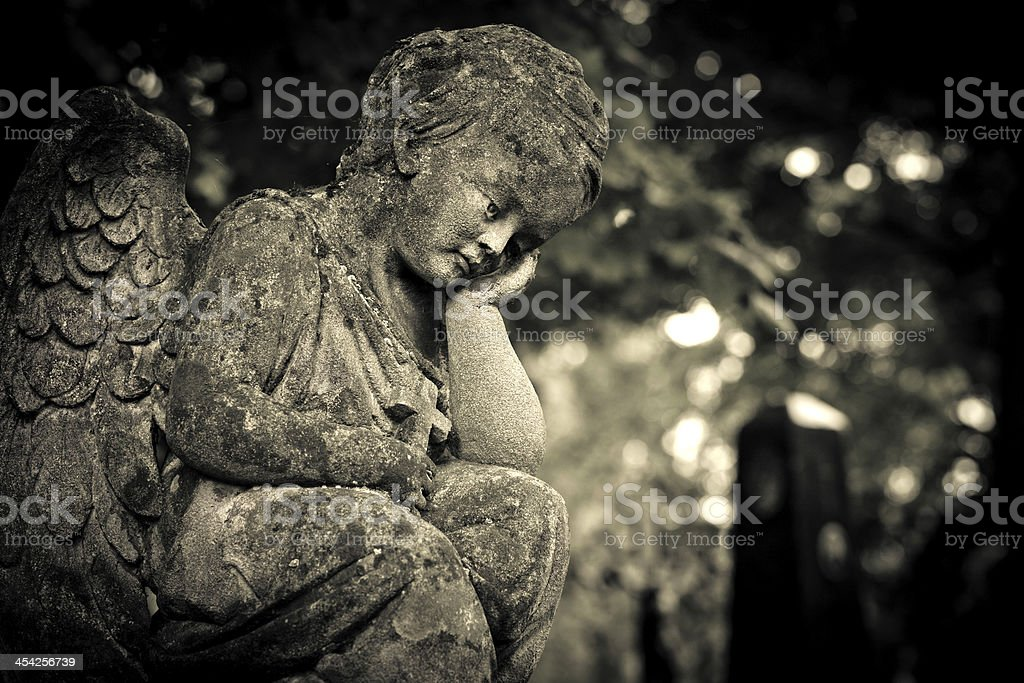 Thoughtful angel royalty-free stock photo