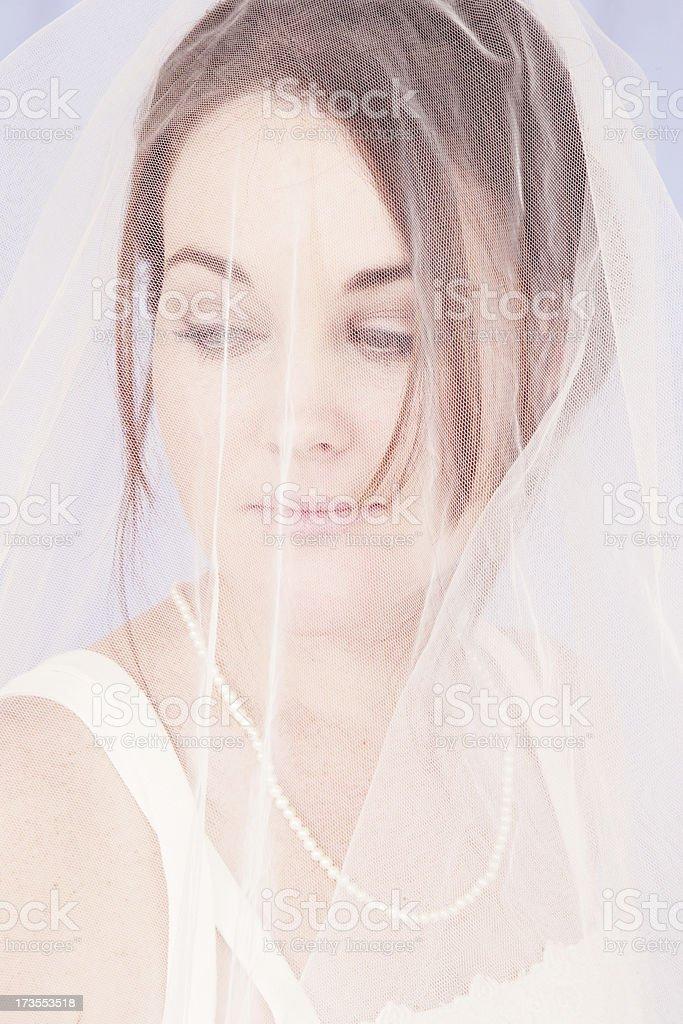 Thoughtful Bride stock photo