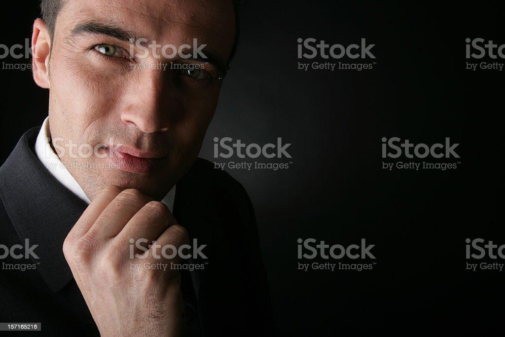 Thoughtful businessman royalty-free stock photo