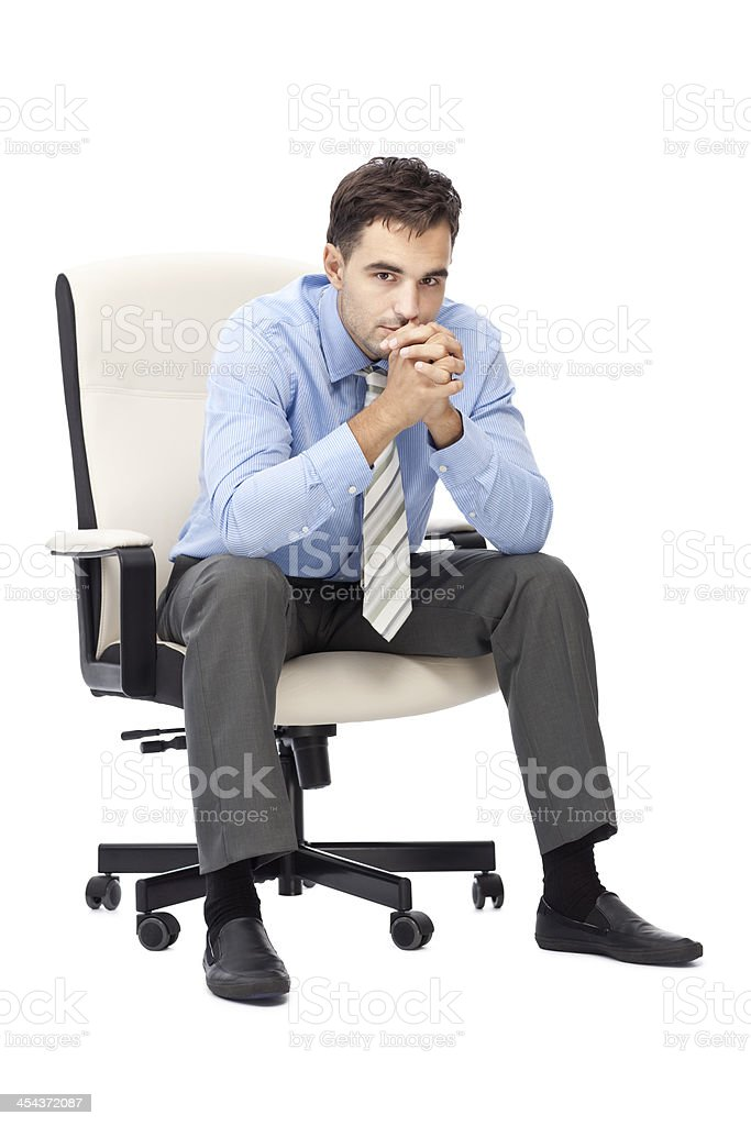 Thoughtful businessman. royalty-free stock photo