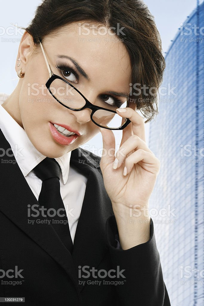 Thoughtful businesswoman royalty-free stock photo
