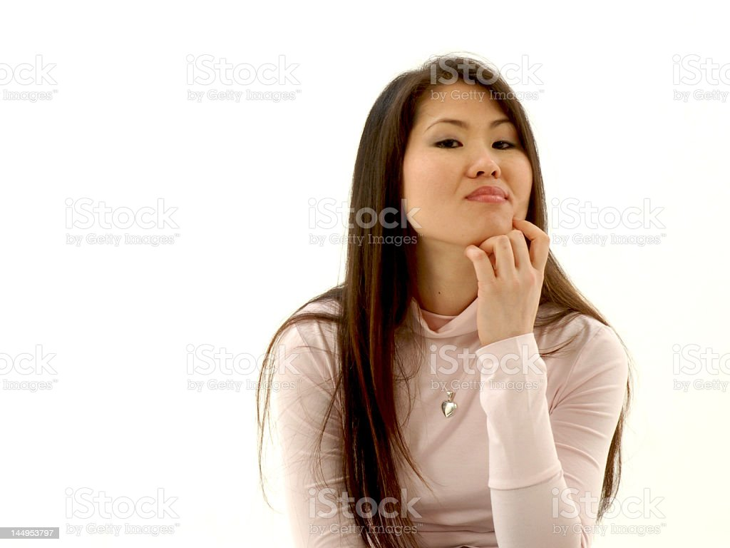 Thoughtful girl royalty-free stock photo