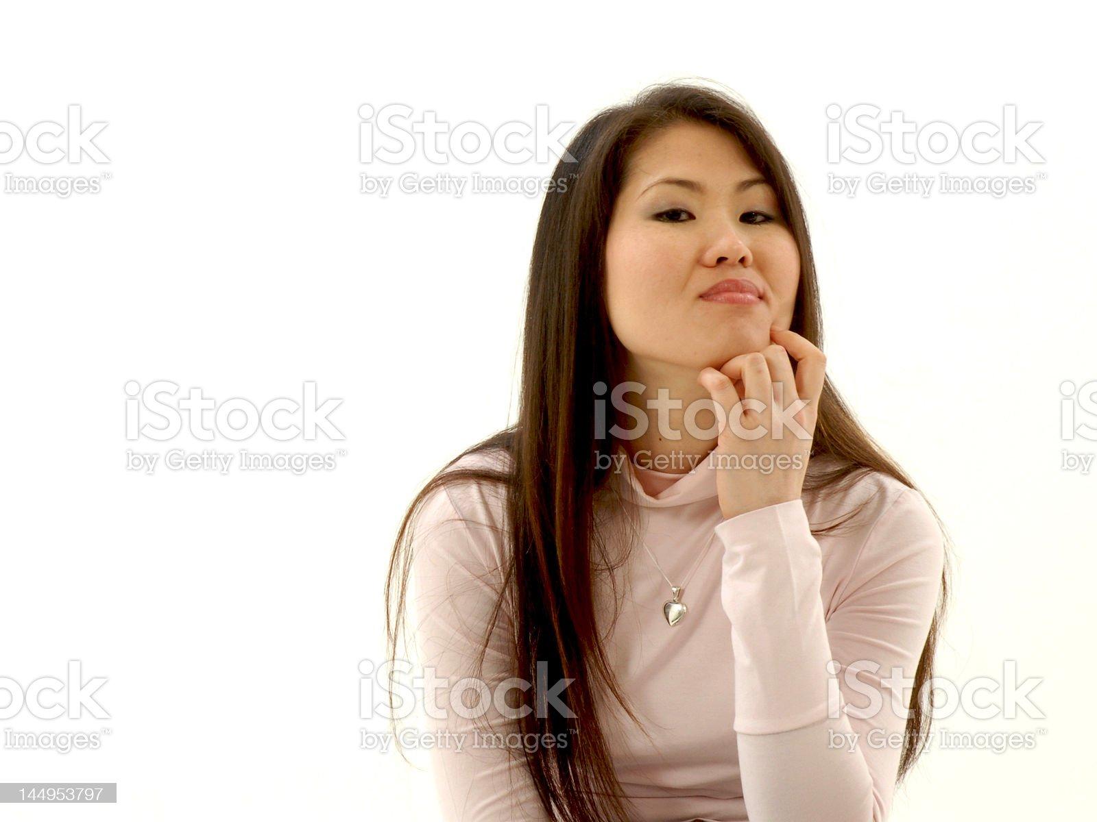 Thoughtful girl royalty-free stock photo