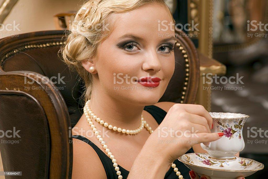 thoughtful lady royalty-free stock photo