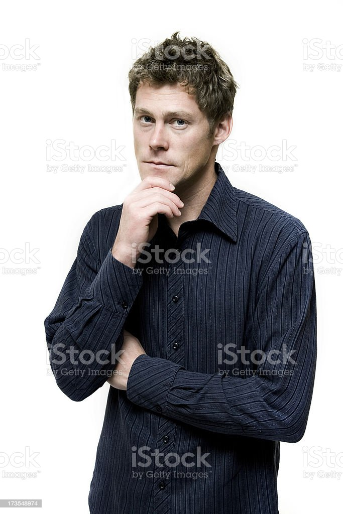 Thoughtful Man royalty-free stock photo
