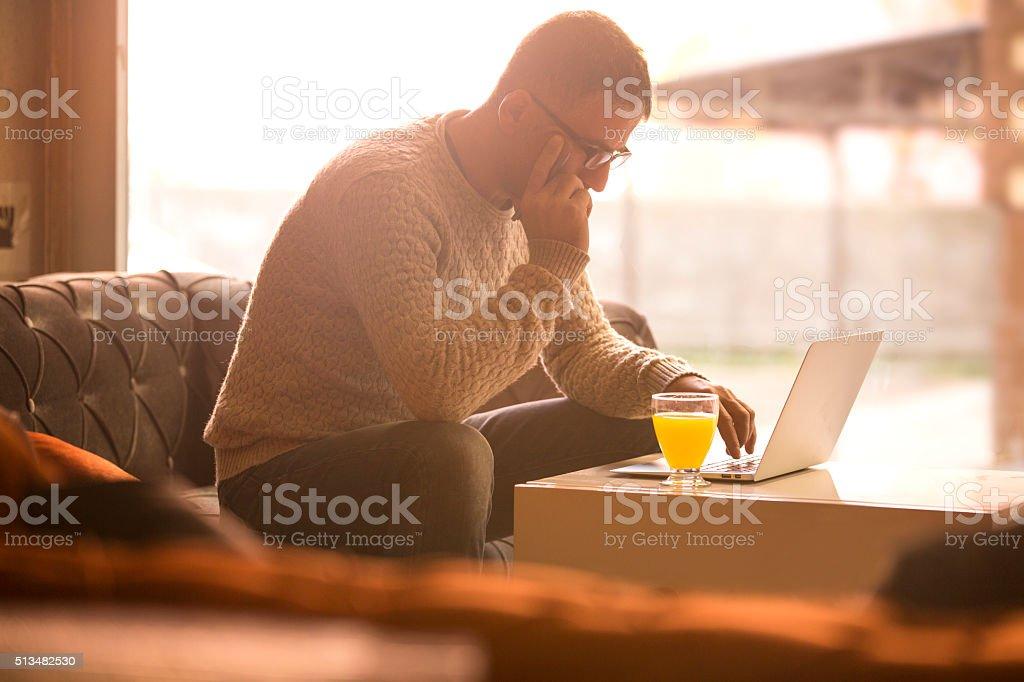 Thoughtful Man stock photo