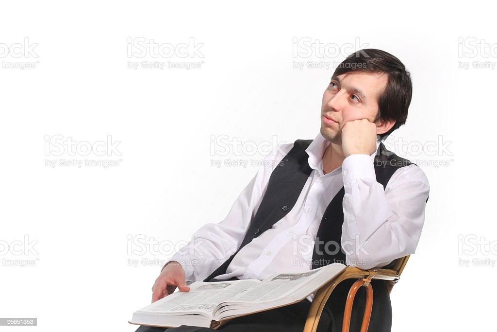 Thoughtful man royalty-free stock photo