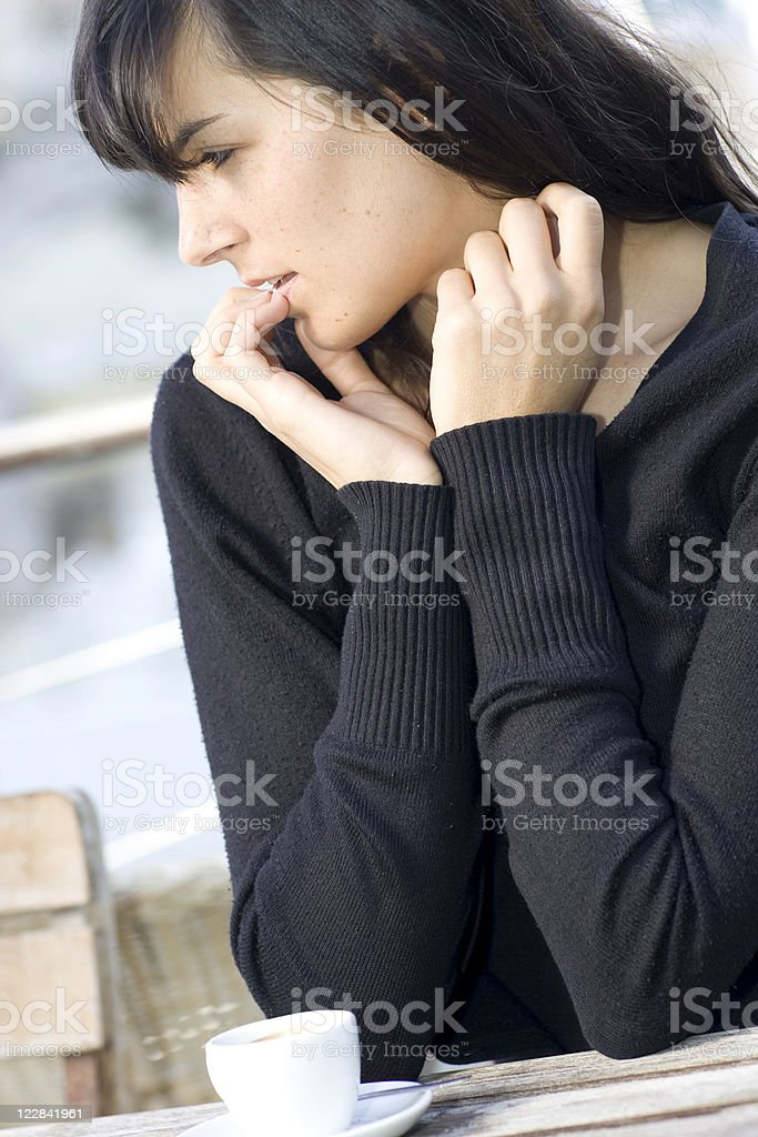 thoughtful moment stock photo