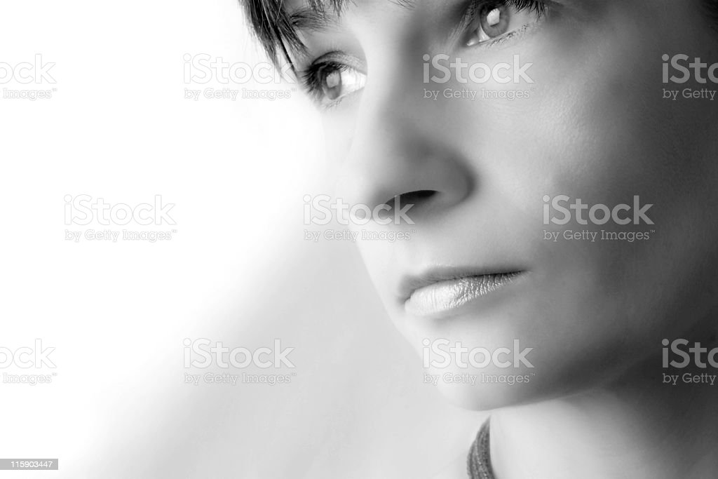 thoughtful stock photo