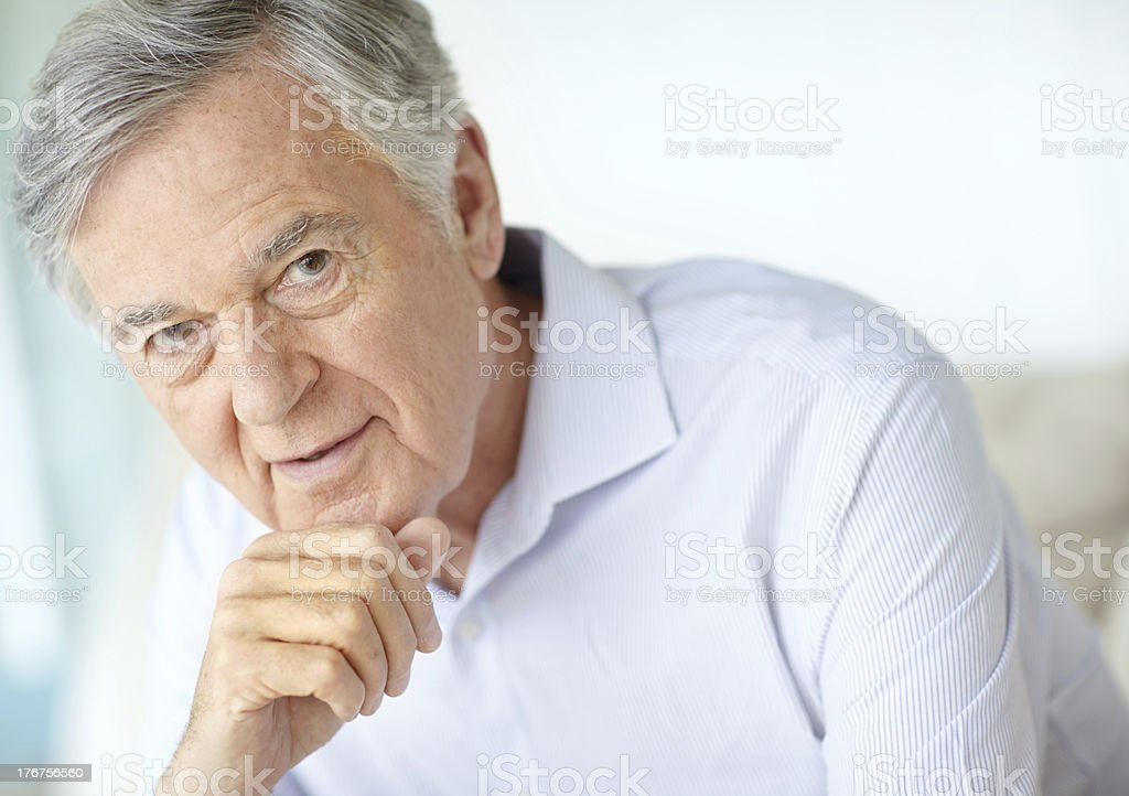 Thoughtful royalty-free stock photo