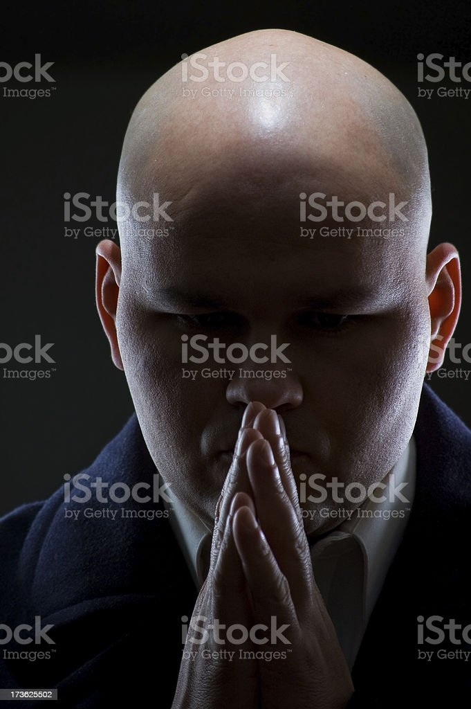 Thoughtful stance royalty-free stock photo
