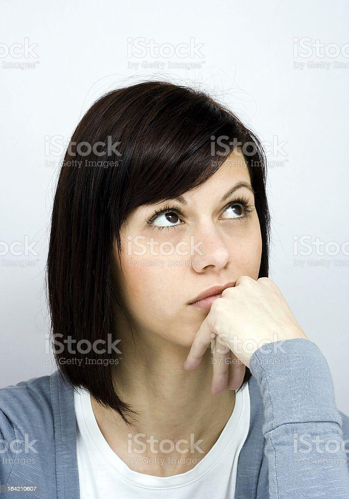 Thoughtful woman royalty-free stock photo