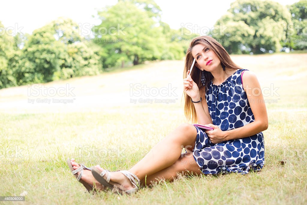 thoughtful woman royalty-free stock photo