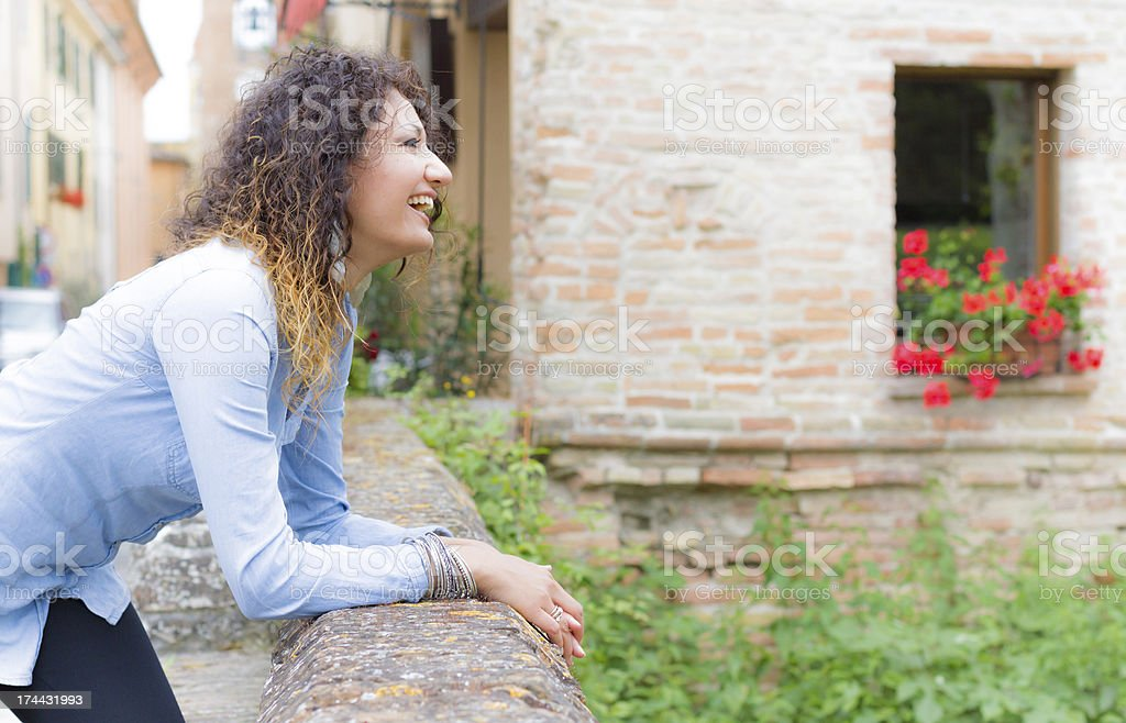 Thoughtful young woman royalty-free stock photo