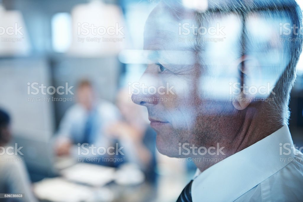 Thoughts of the future stock photo