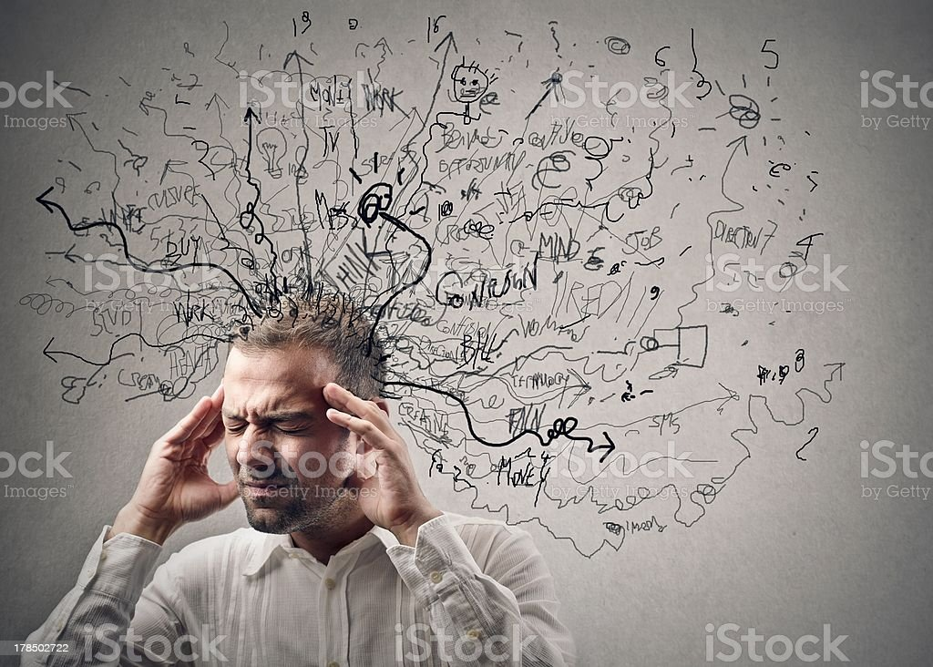 thoughts stock photo