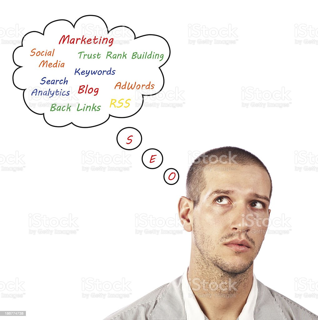 SEO Thoughts royalty-free stock photo