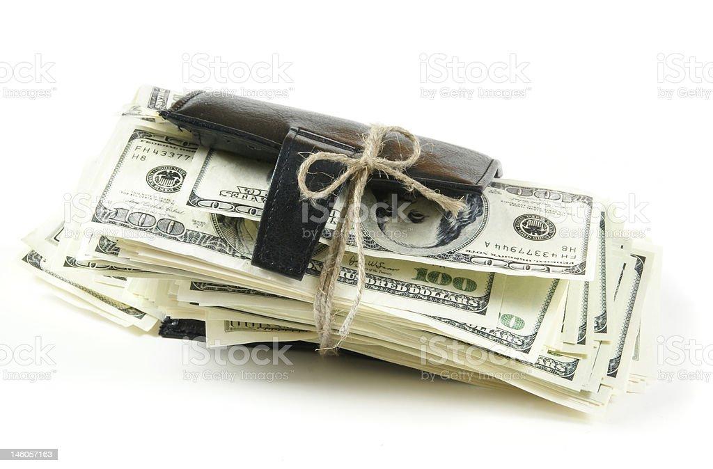 thousand dollars inside royalty-free stock photo