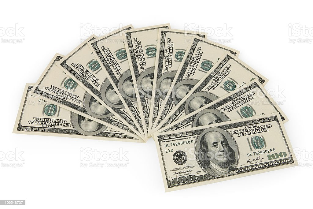 Thousand Dollars royalty-free stock photo