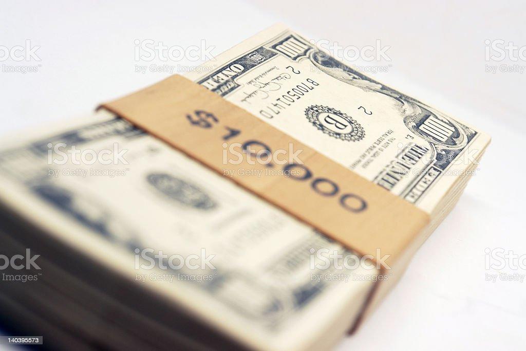 10,000 Thousand Dollars royalty-free stock photo
