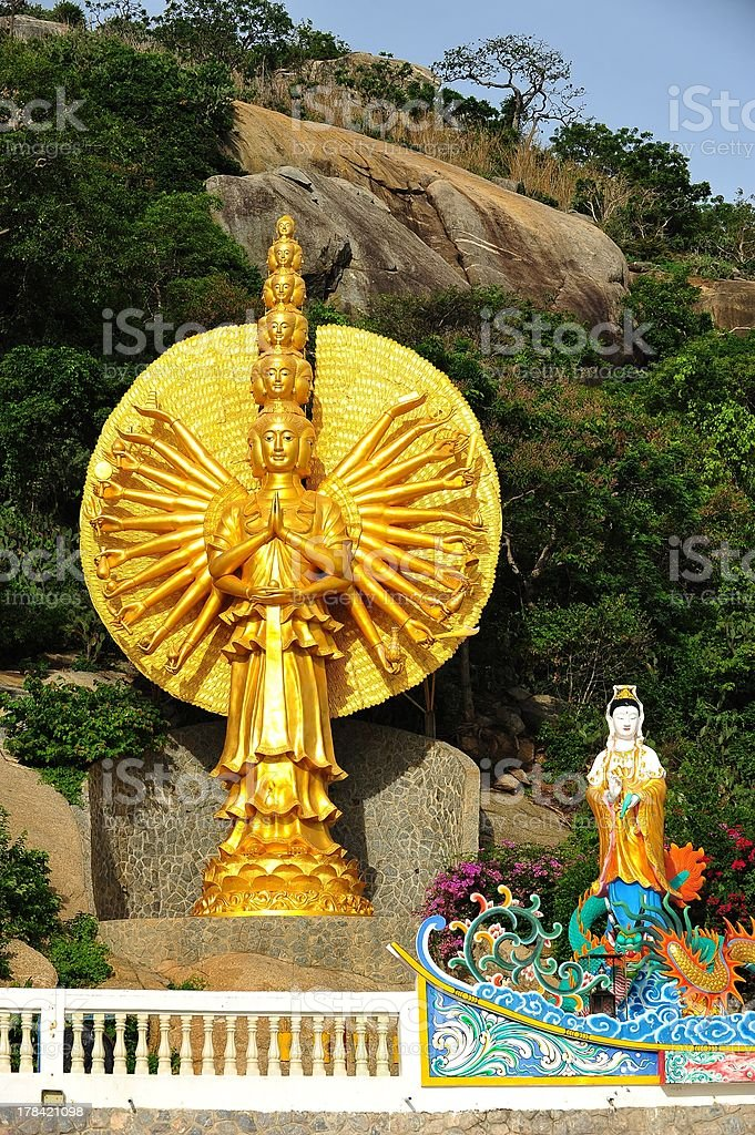 Thousand hands of god at kao takiab, hua hin stock photo