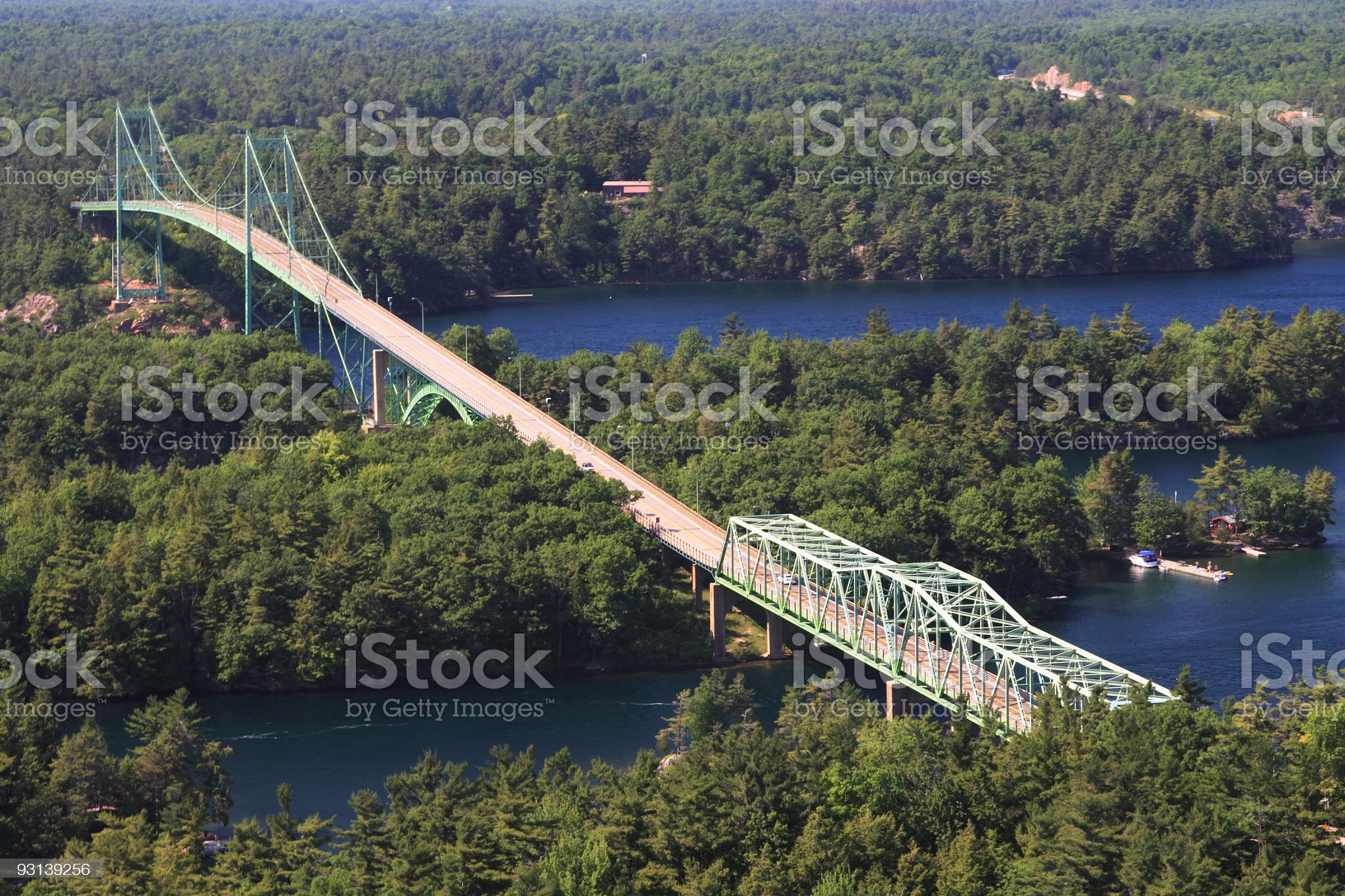 Thousand Island Bridge royalty-free stock photo