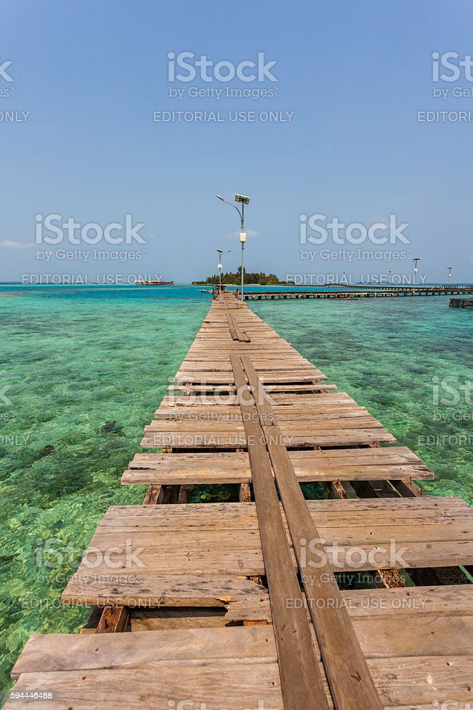 Thousand Islands in Jakarta, Indonesia stock photo