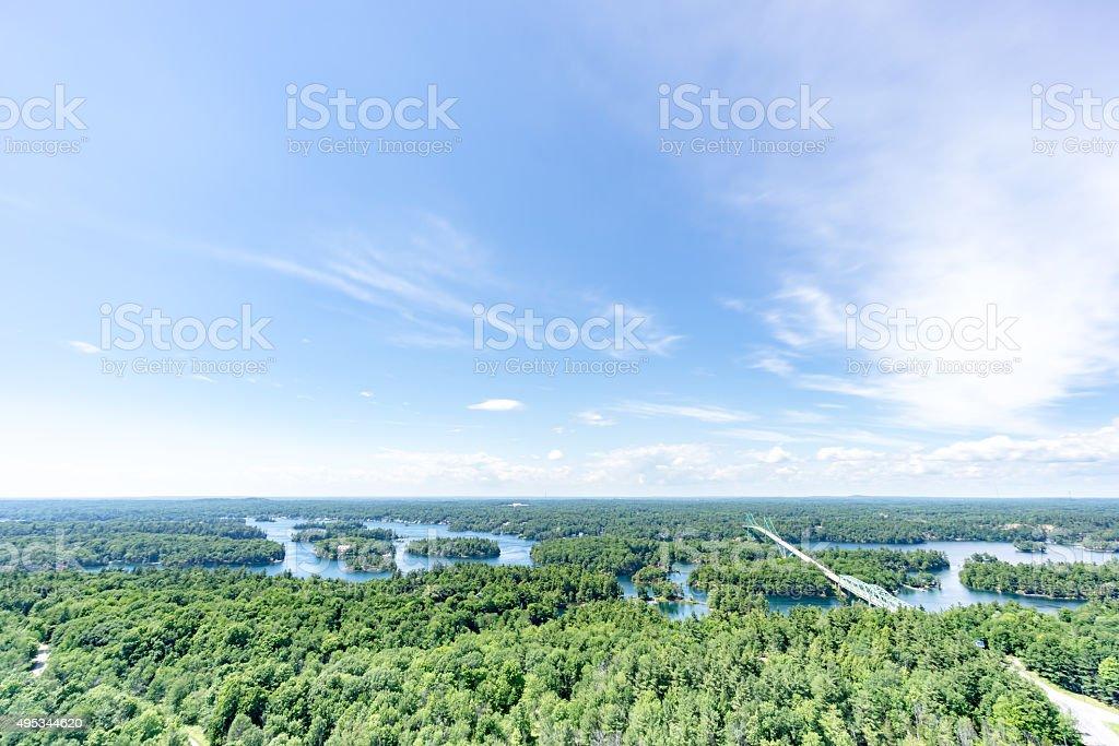 Thousand Islands Ontario stock photo