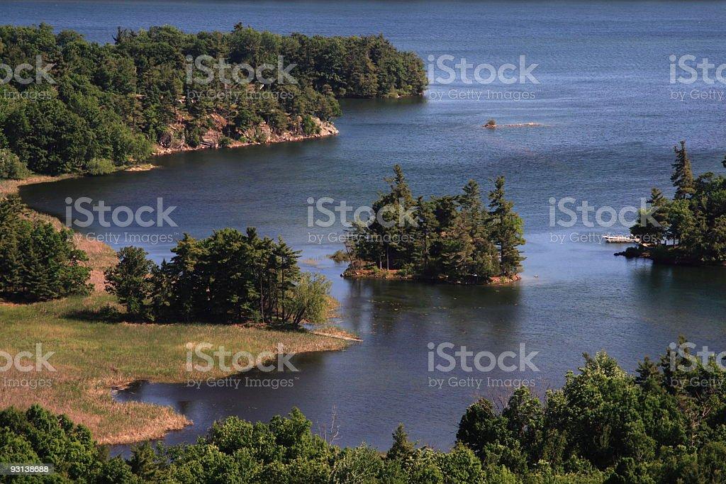 Thousand Islands royalty-free stock photo