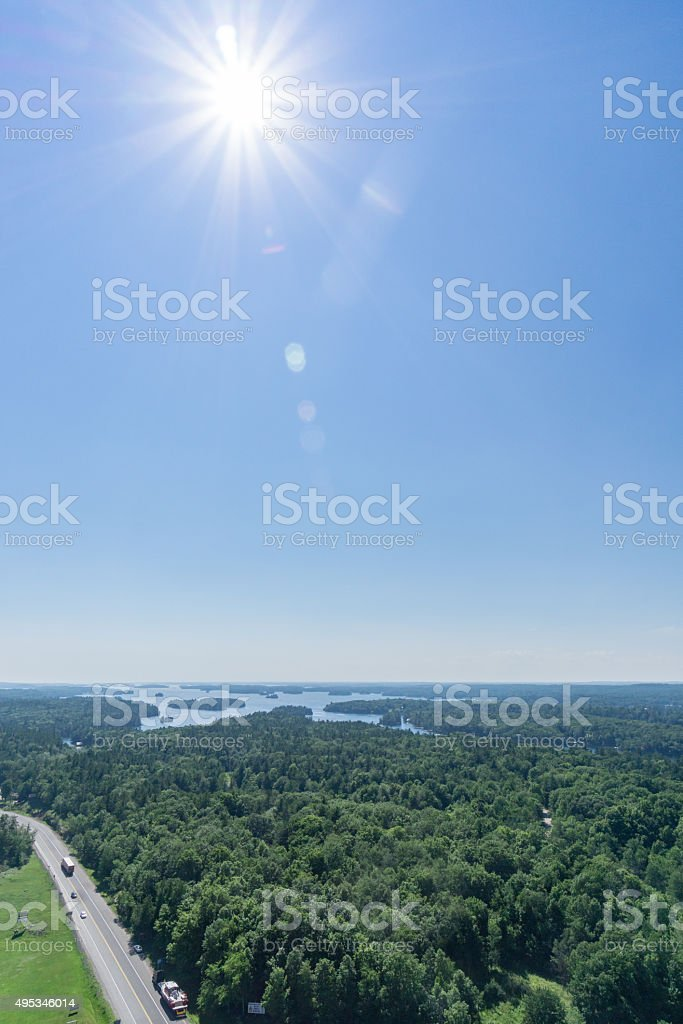 Thousand Islands Vertical stock photo