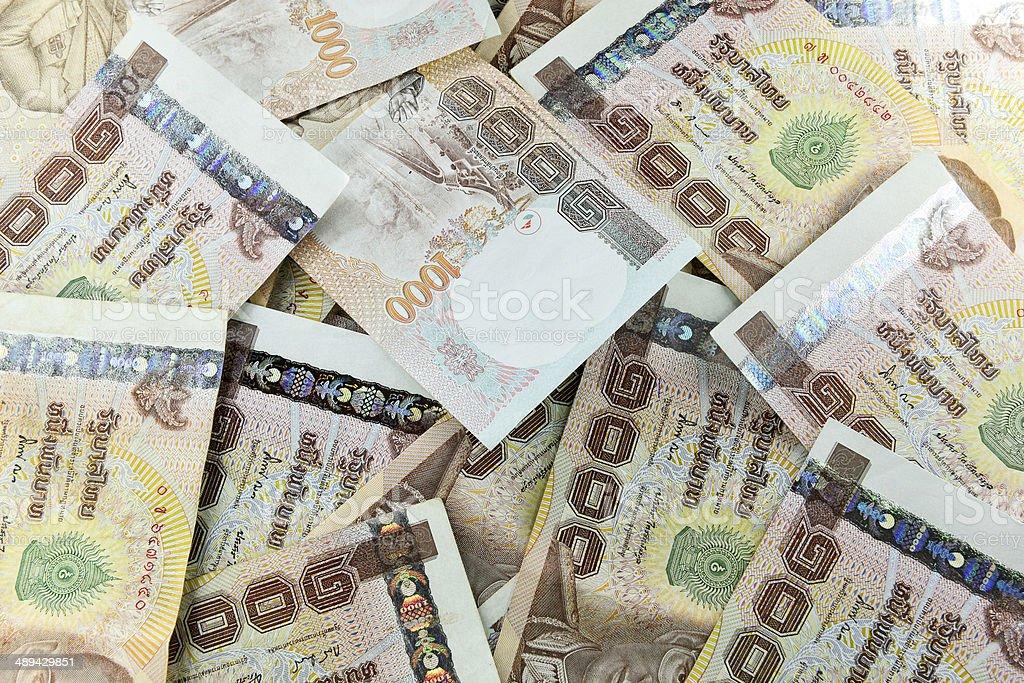 thousand thai baht banknotes stock photo