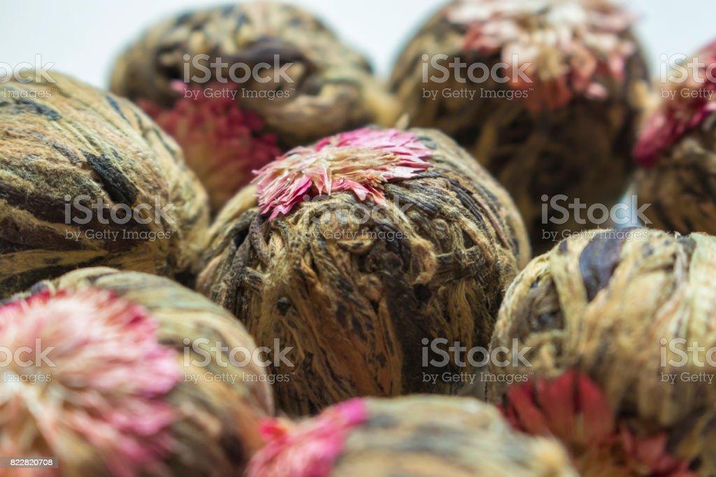 Thousand Year Red Flowering Tea stock photo
