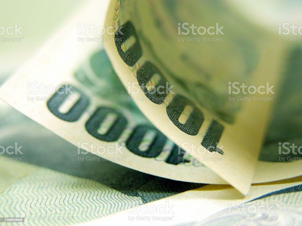 Thousand yen bill stock photo