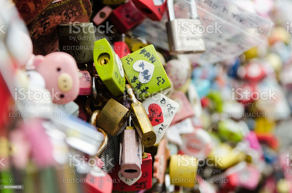 Thousands of love padlocks. royalty-free stock photo
