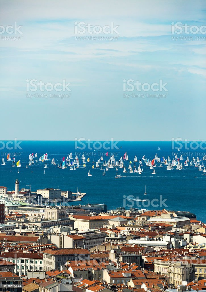 Thousands of sails stock photo