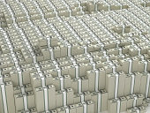 Thousands stacks of money